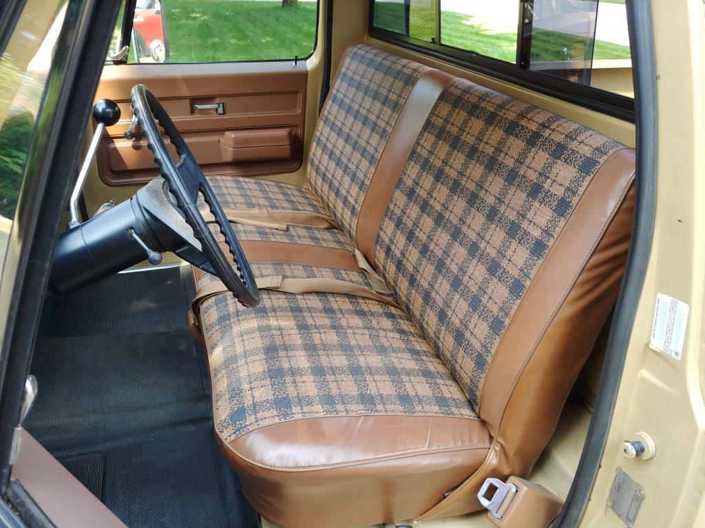 interior of 1976 GMC pickup