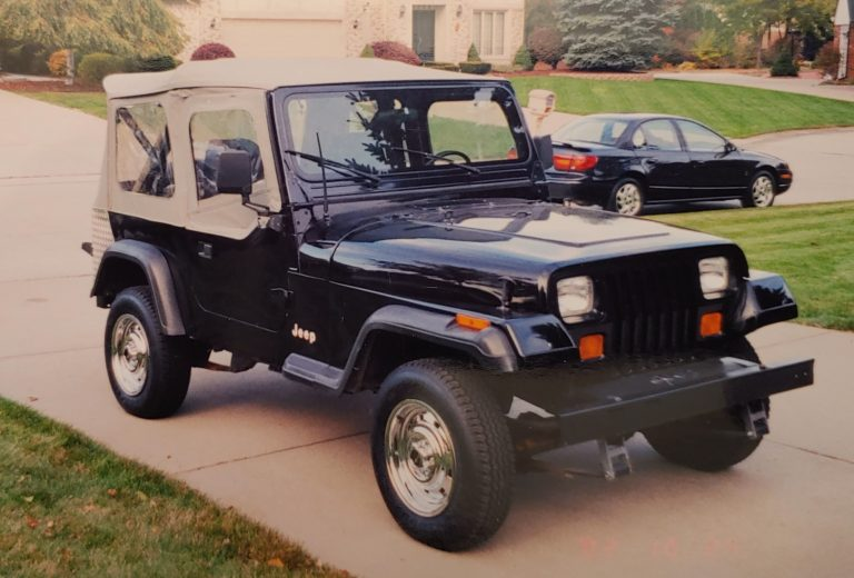 1989 Jeep Wrangler just before I sold it
