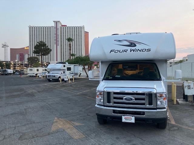 camper parked on las vegas parking lot