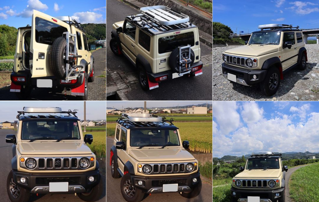 6 pictures of tan SUVs