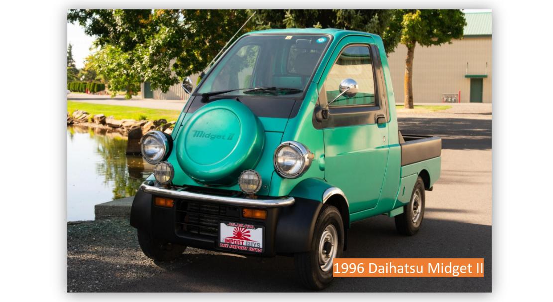 Read more about the article Random Auction Pick:  1996 Daihatsu Midget II
