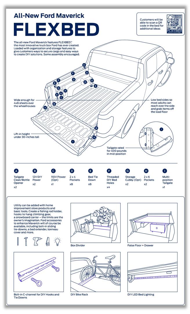 Maverick Flexbed capabilities drawing